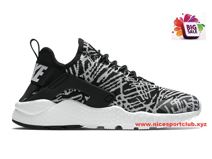 Nike Air Huarache Run Ultra Jacquard Femme Pas Cher Noir/Blanc 818061_001  Nike Air Huarache