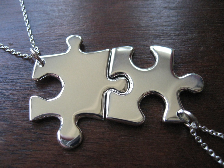 Best Friend Necklaces Puzzle Piece Pendants... Cute!