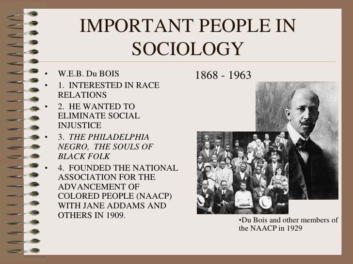 web dubois sociology