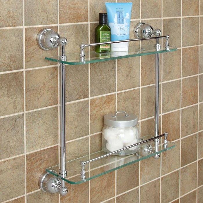 cade tempered glass shelf two shelves
