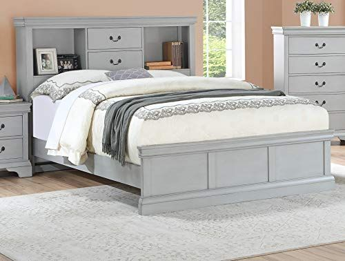 Esofastore Classic Modern Bedroom Furniture California King Size Bed Grey Color Birch Ve Unique Bedroom Furniture Bedroom Sets Furniture King King Bedroom Sets