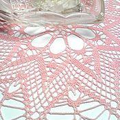 Для дома и интерьера ручной работы. Ярмарка Мастеров - ручная работа Салфетка крючком Розовая звезда. Handmade.