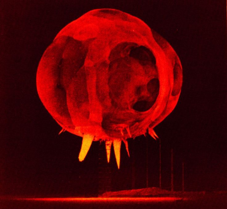 not happy, but cool! nuclear explosion one millisecond after detonation