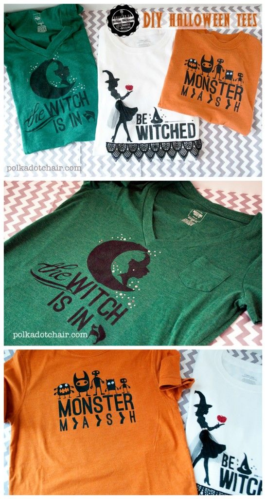 Make your own Halloween t-shirts-