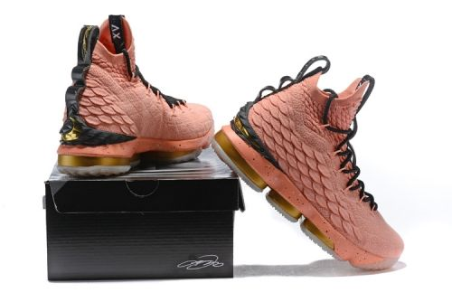 e2f839aa686e Nike LeBron XV EP 15 Mens Basketball Shoes All-Star Rust Pink Black White