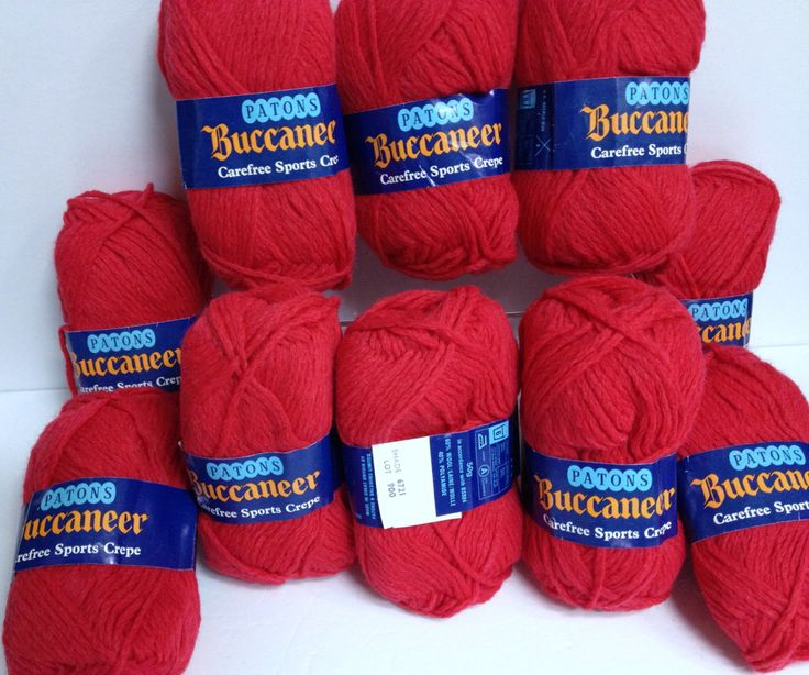 Patons Wool Bundle Bright Red Yarn Destash Carefree Sports Crepe Vintage Patons Buccaneer 10Skein Bundle Rich Red Yarn Made in Great Britain by HeyJudeCollection on Etsy