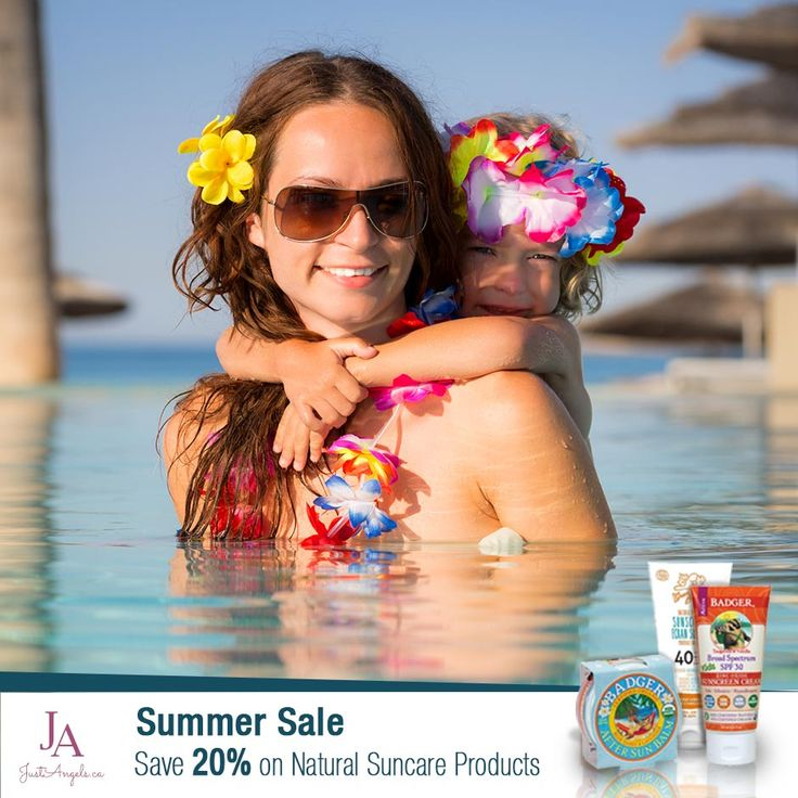 Summer Sale!! Save 20% on Natural Suncare products till May 31st.