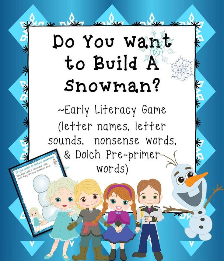 Practice Early Literacy skills with this fun FROZEN game!