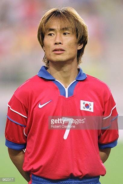 Portrait of Kim Tae Young of Korea Republic before the FIFA Confederations Cup 2001 match against Australia played at the Suwon World Cup Stadium in...