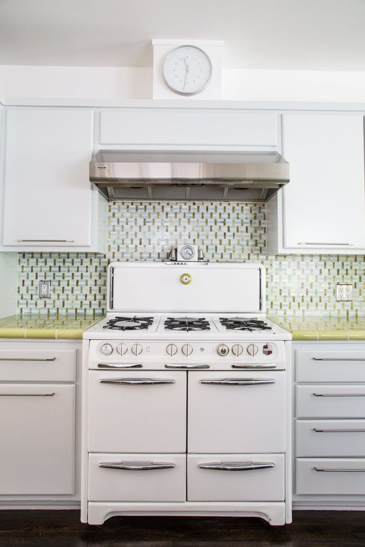 : Green Tile, Bright Kitchens, Functional Modern, John Functional, Apartment Therapy, Tile Countertops, Modern Home, Houses Tours, Retro Kitchens
