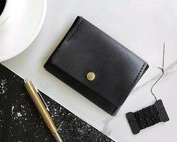 DIYパーツ / 皮、革、レザー|ハンドメイド、手作り通販・販売のCreema 財布 - - 黒[ADOLE]革の手は、DIYキットを作り