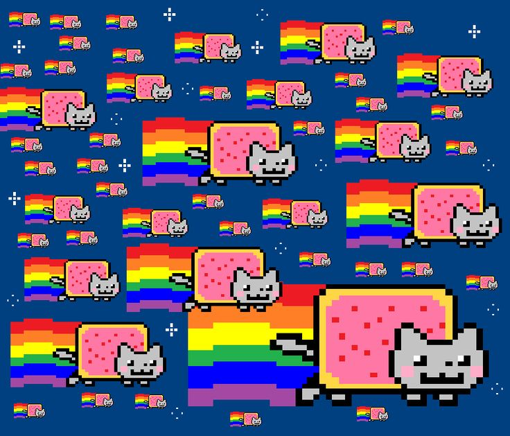 DeviantArt: More Like Nyan Cat on calculator by SoulEaterRagnorok