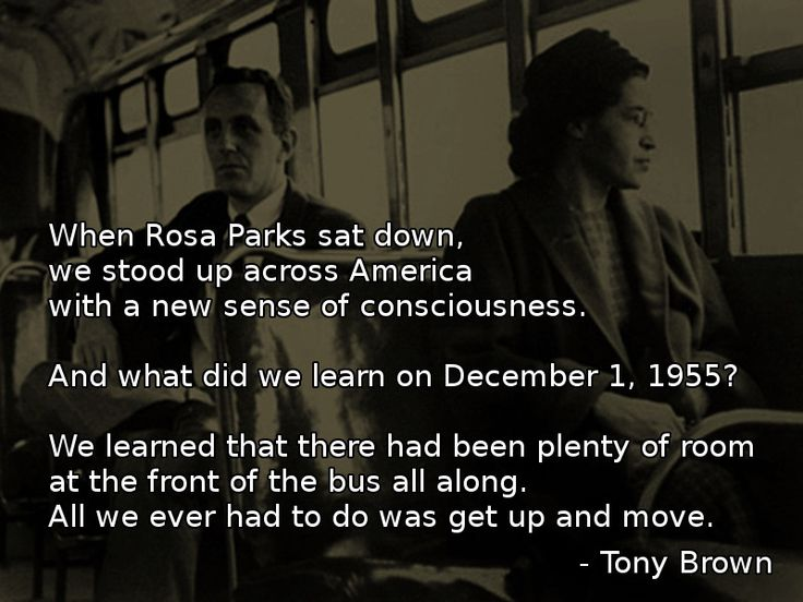 when rosa parks sat down tony brown more at http - Rosa Luxemburg Lebenslauf