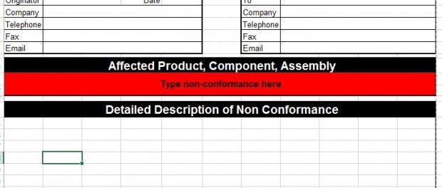 Corrective Action Template For Microsoft Excel Six Sigma