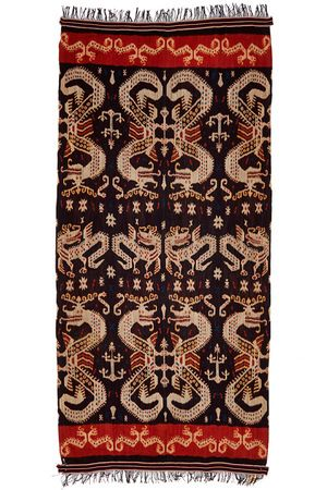 Cotton Ikat Hinggi (Man's Mantle) Sumba, Indonesia 2.39 x 1.13 m I Perryman Carpets