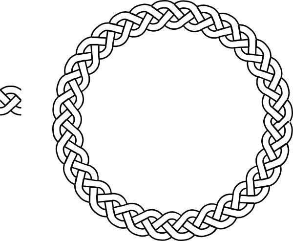 Celtic Borders   plait border circle clip art