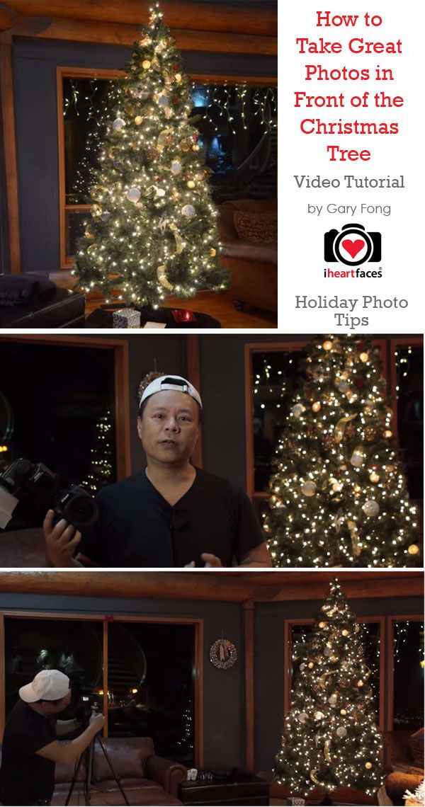 How to Take Great Photos in Front of the Christmas Tree - Video Tutorial by Gary Fong via iHeartFaces.com