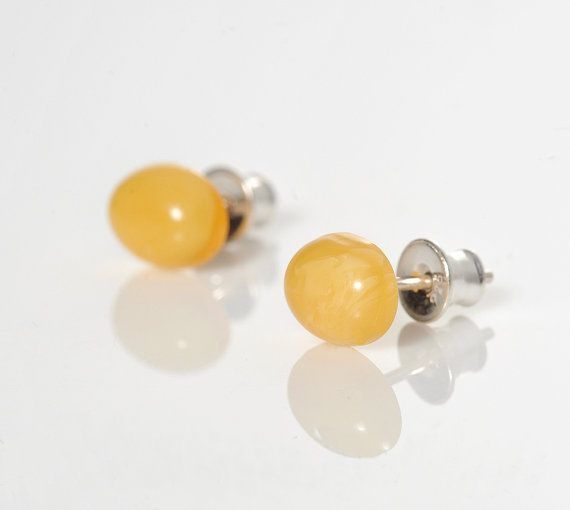 Milky Amber EarringsWhite  Amber BeadsSilver by AnnaBujak on Etsy
