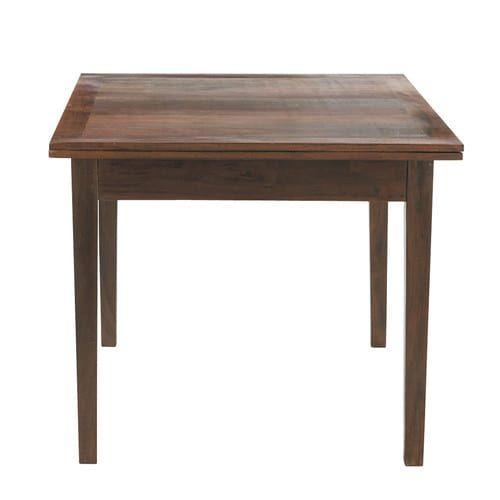 Table de salle à manger à rallonges en bois L 90 cm