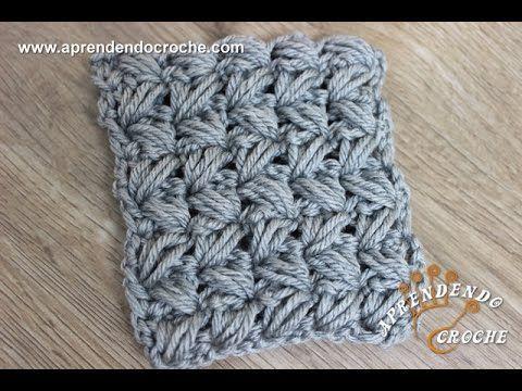 Ponto de Crochê Avelã Cruzado - Aprendendo Croche - YouTube