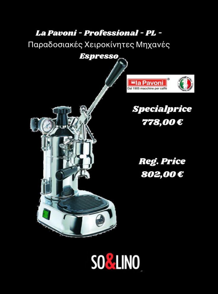Read More or order now: http://www.solino.gr/la-pavoni/παραδοσιακές-χειροκίνητες-μηχανές-espresso/958/la-pavoni-professional-pl-lgb-lever-machines-detail.html