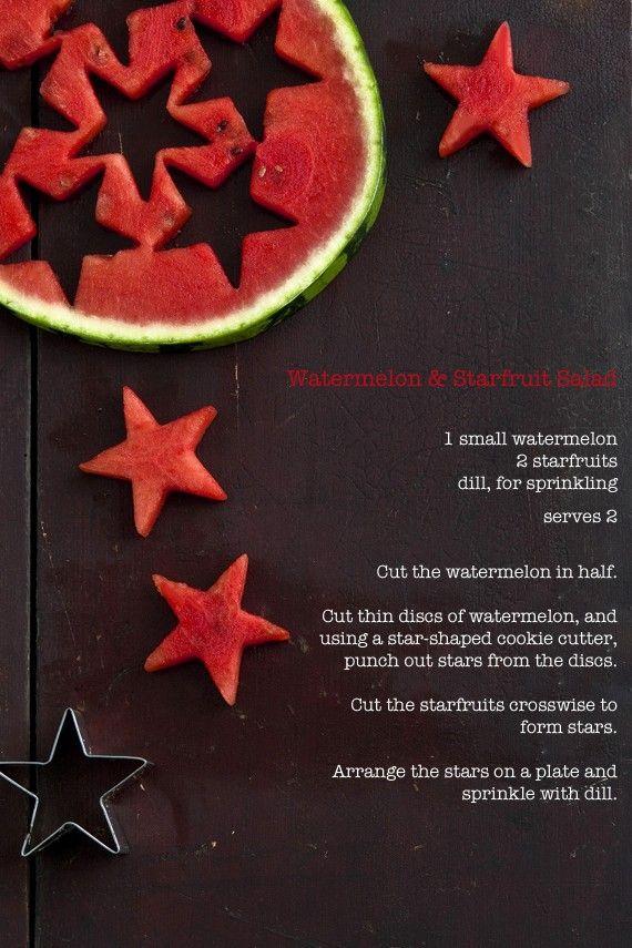 Watermeloen sterren!