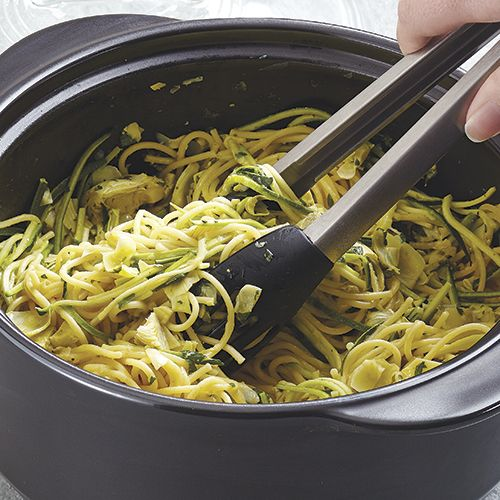 Lemon Artichoke Pasta - The Pampered Chef® I've had this like 3 times already in the past month yum! Check out other similar recipes at www.pamperedchef.biz/LindaLauas