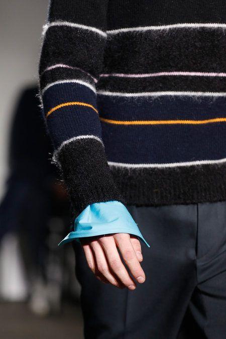 Raf Simons Fall 2013 Menswear - mohair stripe