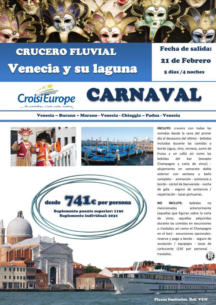 Carnaval de Venecia en crucero fluvial ultimo minuto - http://zocotours.com/carnaval-de-venecia-en-crucero-fluvial-ultimo-minuto-2/