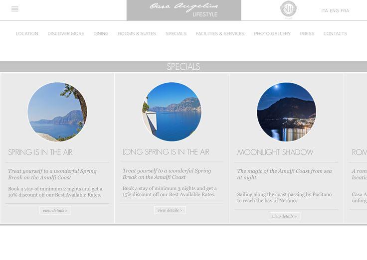 Flat Design&Storytelling Web Design casangelina.com