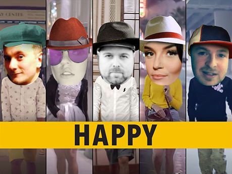 Casting five in Pharrell Williams's megahit song video is the perfect way to ring in the HAPPIEST New Year ever!