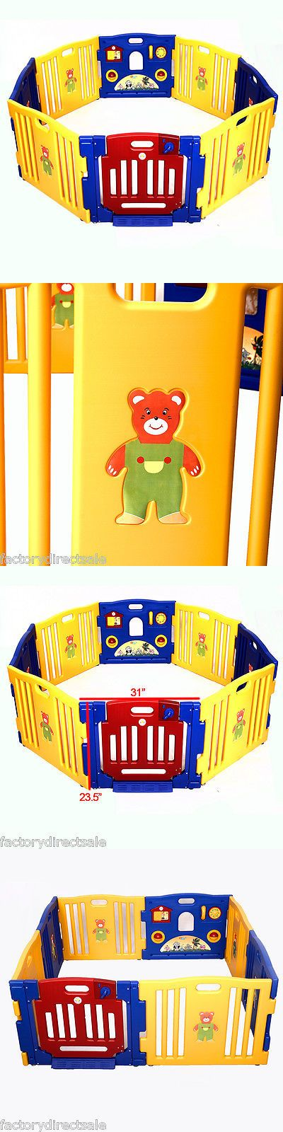 Baby Gear 100223: New Baby Playpen Kids 8 Panel Safety Play Center Yard Home Indoor Outdoor Pen -> BUY IT NOW ONLY: $78.52 on eBay!