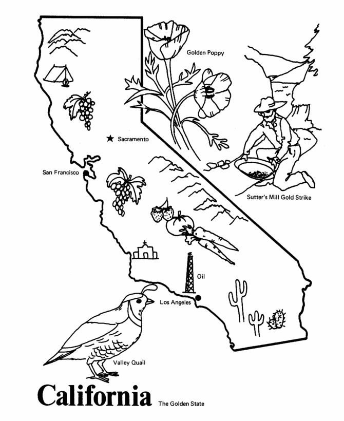 Usa Printables State Of California Coloring Pages California Coloring Pages California State Outline Ca History