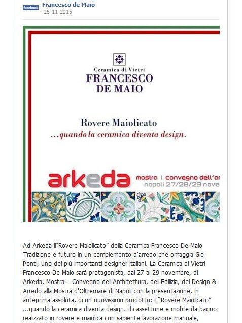 #Arkeda | Ceramica Francesco De Maio su www.tegels