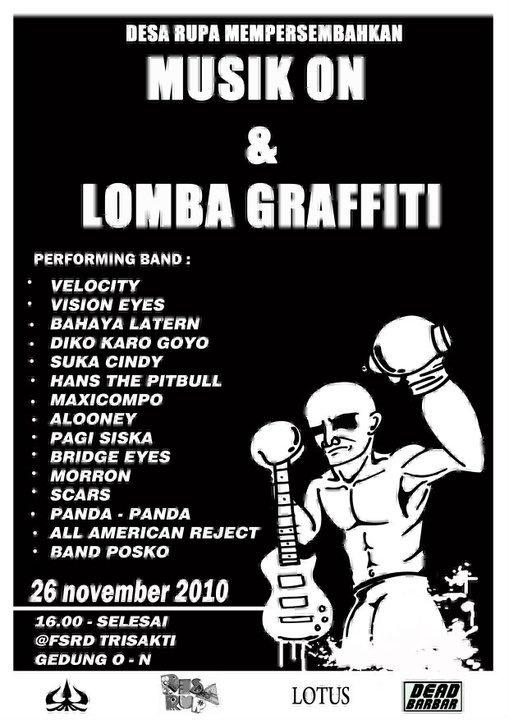 Musik ON & Lomba Graffiti oleh 2009
