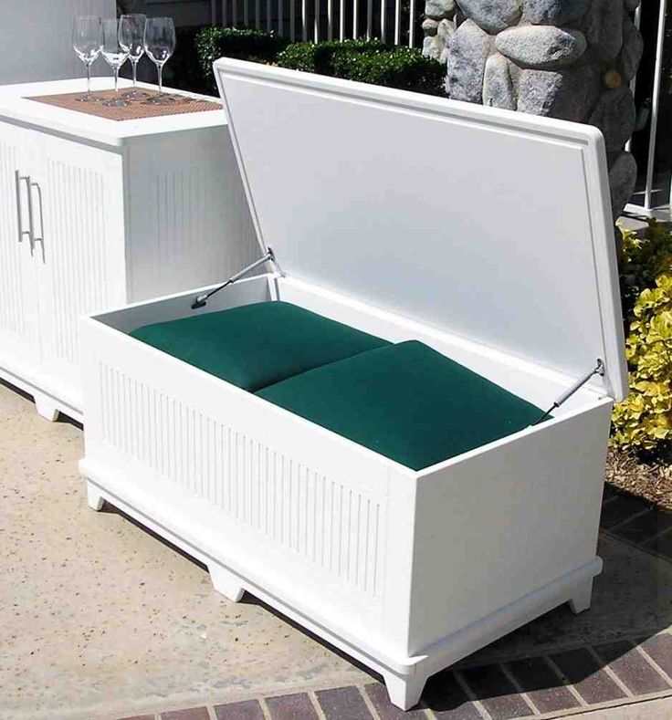 best 20 outdoor storage benches ideas on pool