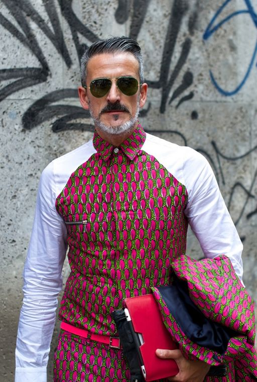 Sticking to full on prints in Milan.African prints trending all over the world.copy .