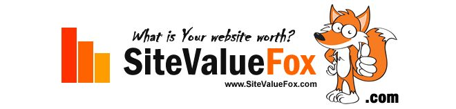 """http://www.sitevaluefox.com/ - Website Value Calculator Submit your URL to 461 different """"Statistics and Valuation"""" sites for FREE"""