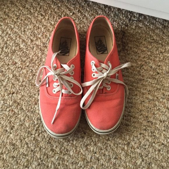 Vans coral shoes Coral shoes, size 7, lightly worn Vans Shoes Flats & Loafers