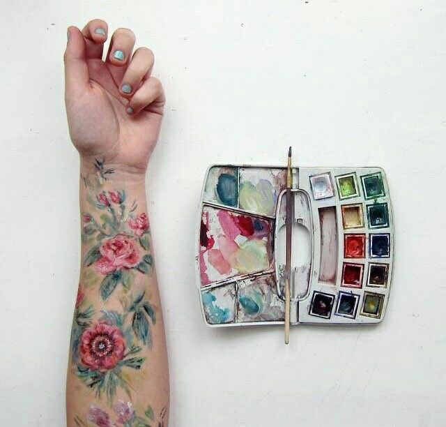 I found this on Tumblr but forgot where I got it from. This is definitely the style I want for my sleeve.