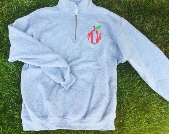 Welcome to LuLu Bleu!!! This monogram quarter zip is perfect for any teacher, student teacher or educator and is both comfy and classy!!