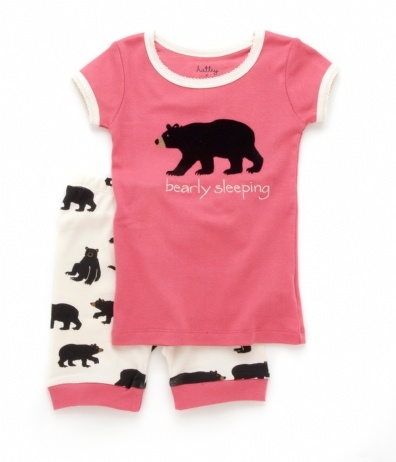 PLANET PYJAMA - Home of quality Kids pyjamas - Bearly sleeping shortie pyjamas pink/cream, $34.95 (http://www.planetpyjama.com.au/bearly-sleeping-shortie-pyjamas-pink-cream/)