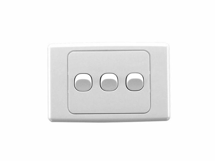 Clipsal 2033HA White 2000 Series Light Switch Three Gang Triple Wall Plate