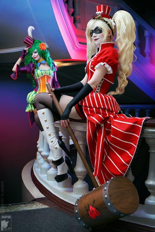 Cosplayer: Lena Litvinova 'aka' Ryoko Demon. From: Russia. Character: Harley Quinn (Burlesque). Malro Doll Is Lady Joker. Photo: Kifir 2015.