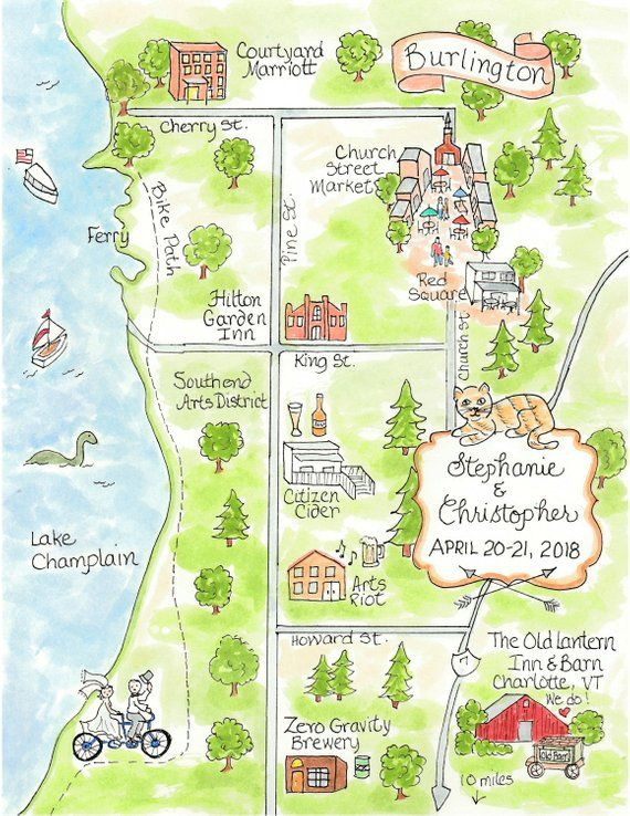 Wedding Map Hand Drawn Wedding Map Watercolor Map Of Your City