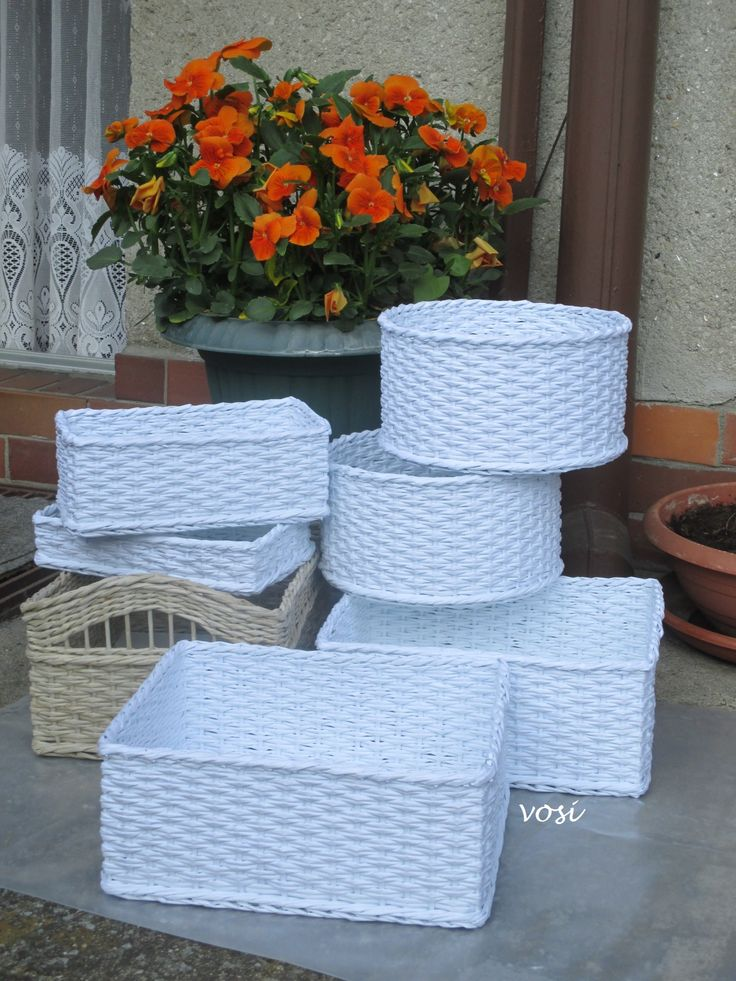 košíky (z průklepového papíru)