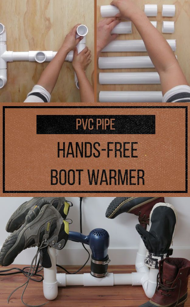 Use PVC Pipe And A Hair Dryer To Dry Out Your Boots In Half The Time
