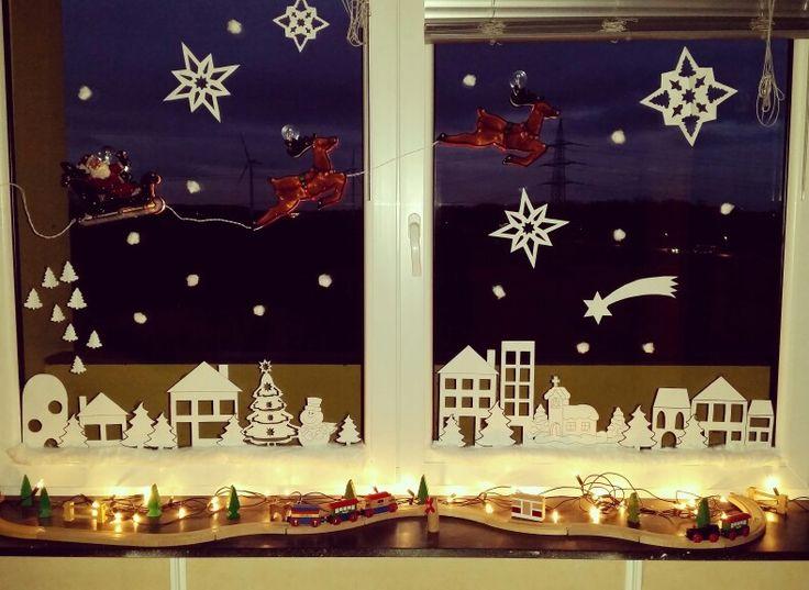 Fenster geschmückt für meinen Sohn.