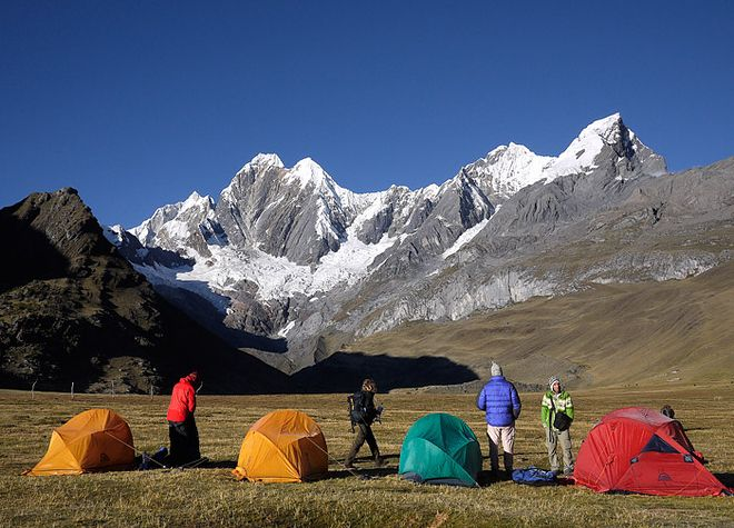 Cordillera Huayhuash, Peru   20 Places To Go Camping Before You Die