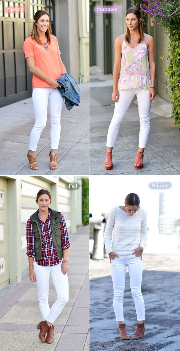 124 best images about White jean outfits on Pinterest | White ...